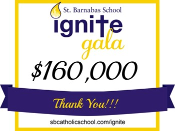 St. Barnabas Catholic School Raised Over $160,000 for Campus Security Improvements at the IGNITE Gala Live and Silent Auction