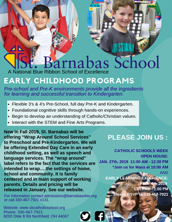 Taking 2019-2020 School Year Enrollment NOW!!